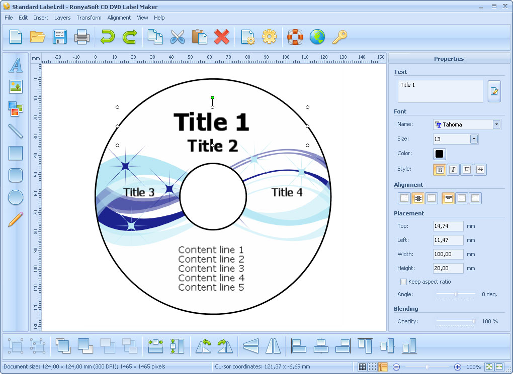 Cd Dvd Label Maker Screenshots Cd Label And Dvd Cover Template Software